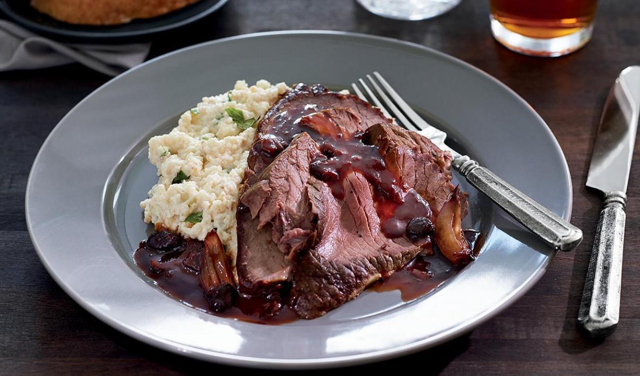 Irish Braised Beef with Sticky Dark Gravy