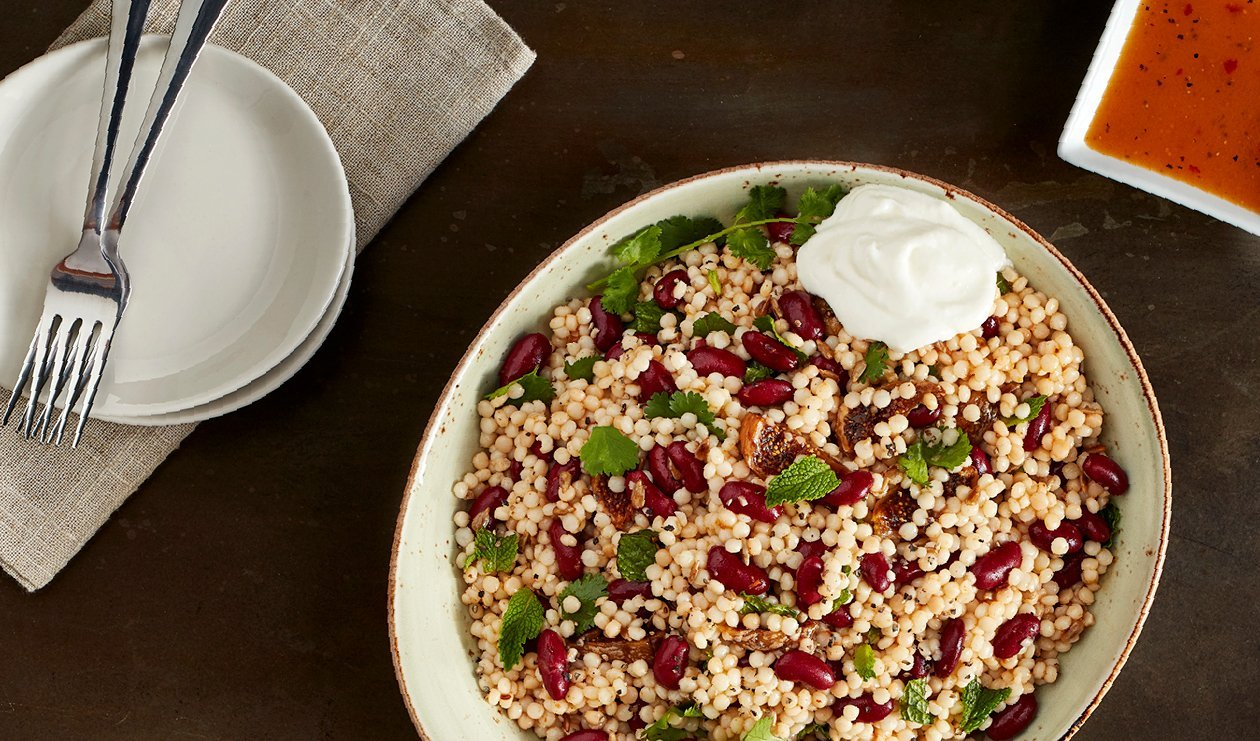 Middle Eastern Spiced Couscous with Figs and Labneh – recipe