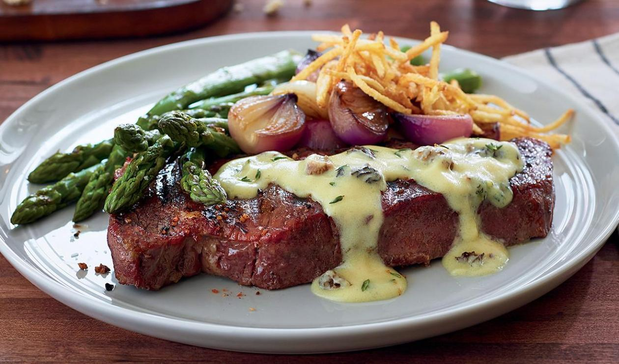 New York Strip with Morel Mushroom Sauce