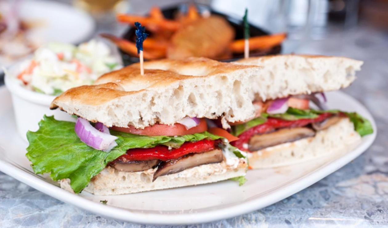 Record-Breaking Portobello Sandwich – recipe