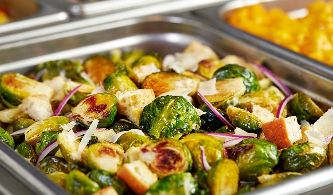 Roasted Brussels Sprouts Caesar Salad with Crispy Pancetta – recipe