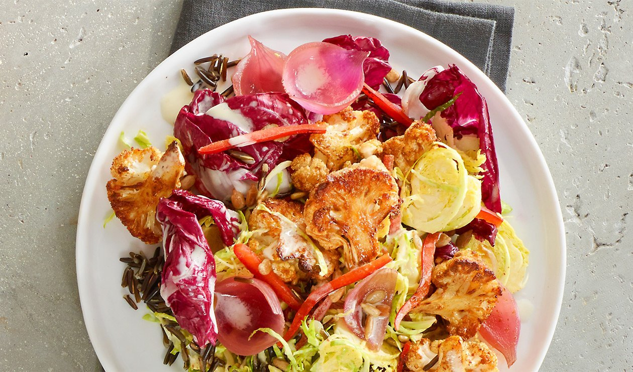 Spice Roasted Cauliflower Salad