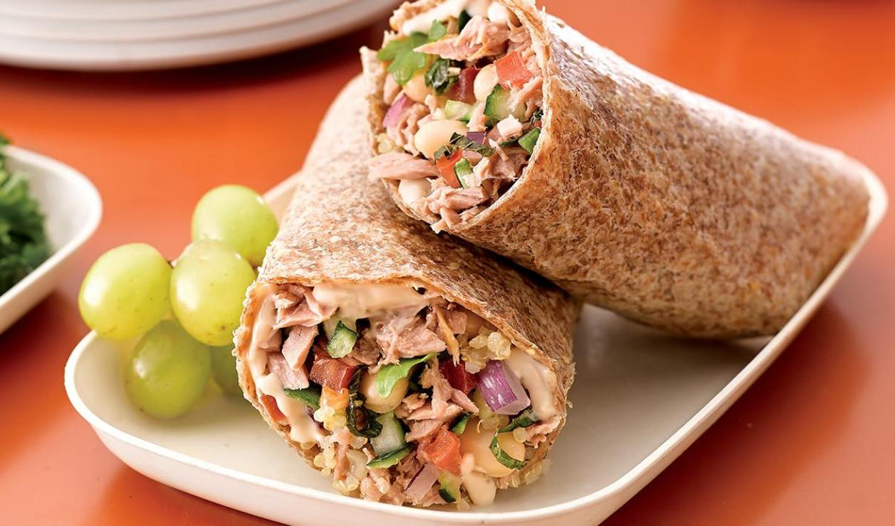 Winning White Bean and Tuna Wrap – recipe