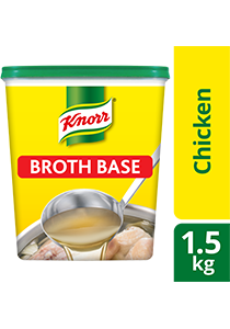 Knorr Chicken Broth Base 1.5kg - Knorr Chicken Broth Base delivers a stock based solution with a meaty taste instantly