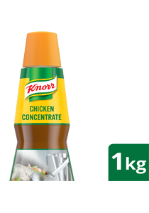 Knorr Concentrated Chicken Liquid Seasoning 1kg - Knorr Concentrated Chicken Liquid Seasoning, simmered with 10x more chicken* for more authentic flavours with your touch of extraordinary