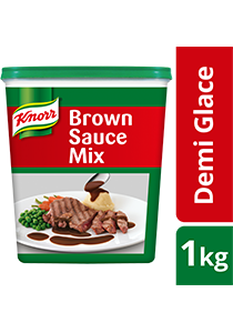 Knorr Demi Glace Brown Sauce Mix 1kg - You will just need 5 minutes to make a brown sauce with Knorr Demi Glace