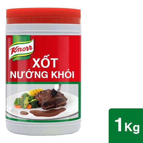 Knorr Hickory Barbeque Sauce 1kg - Knorr Barbeque Sauce with the typical smoked flavour of South America enhances your BBQ dishes