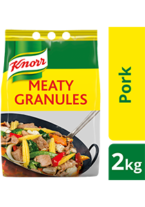 Knorr Meaty Granules 2kg -  Knorr Meaty Granules are made from shinbone, tenderloin and marrow to deliver a well rounded meaty taste to your dish