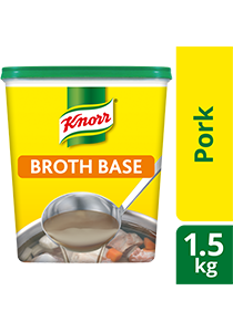 Knorr Pork Broth Base 1.5kg - Knorr Pork Broth Base delivers a stock based solution with a meaty taste instantly
