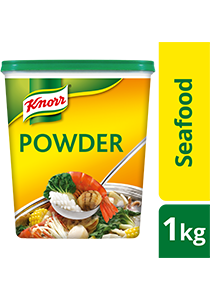 Knorr Seafood Seasoning Powder 1.5kg - Knorr Seafood Seasoning Powder is made from real seafood to intensify the seafood aroma and taste