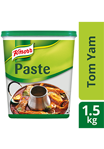 Knorr Tom Yam Paste 1.5kg - Knorr Tom Yam Paste delivers a typical Thai taste with Kaffir lime leaf