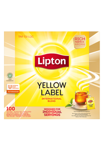 Lipton Yellow Label Tea envelope 100X2g - Lipton Yellow Label Tea brings you tea of a high and consistent quality.