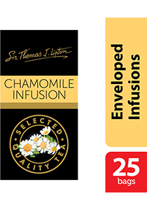 Sir Thomas Lipton Chamomile Infusion 25x1g - Impress your guests with Sir Thomas Lipton teas, exclusively selected from the world's renowned tea regions
