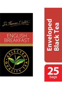 Sir Thomas Lipton English Breakfast 2.4g x 25 - Impress your guests with Sir Thomas Lipton teas, exclusively selected from the world's renowned tea regions