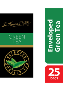 Sir Thomas Lipton Green Tea 2g x 25 - Impress your guests with Sir Thomas Lipton teas, exclusively selected from the world's renowned tea regions.