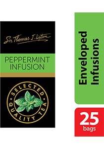 Sir Thomas Lipton Peppermint Infusion 25x1.5g - Impress your guests with Sir Thomas Lipton teas, exclusively selected from the world's renowned tea regions