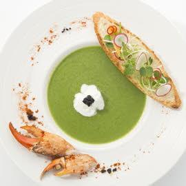 Crab Soup with Pesto