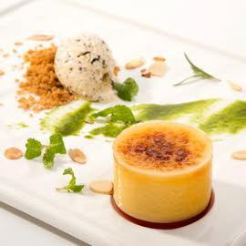 Crème Brûlée, Basil Sauce