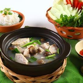 Green Duperreanum with Pork Rib Hotpot