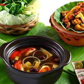 Yellow bamboo with Crispy Frog Hotpot
