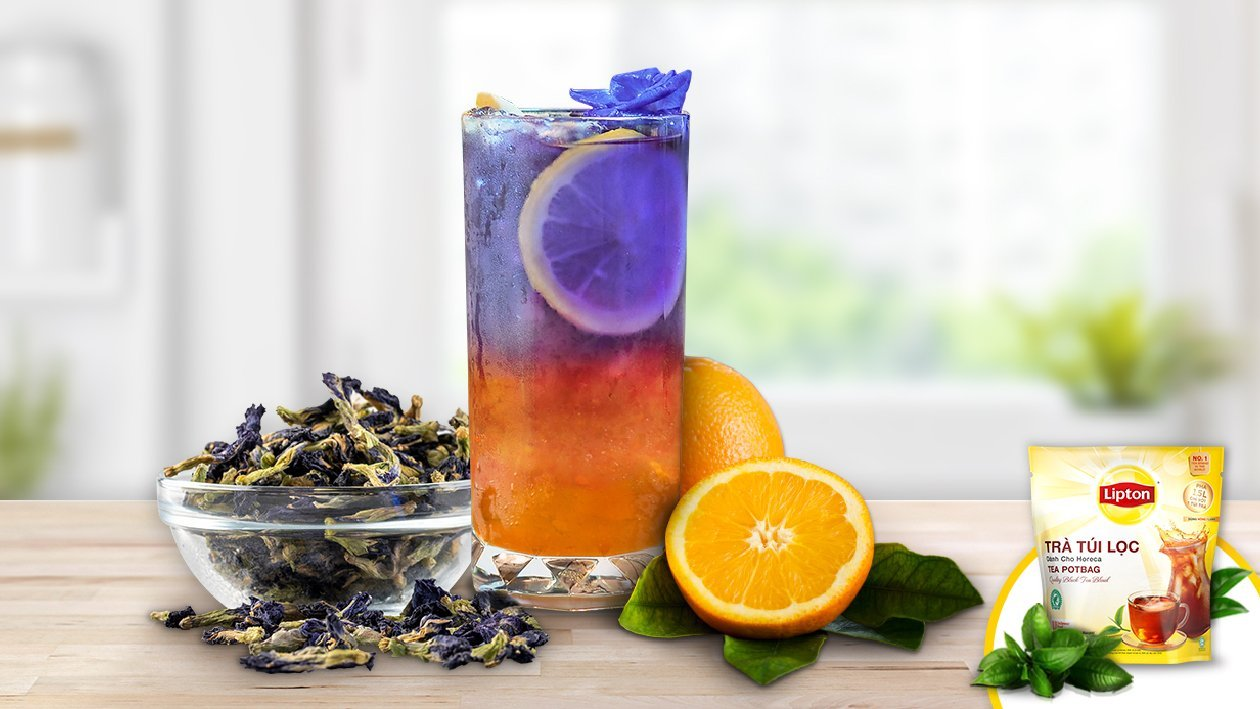Butterfly Pea Flower Orange Tea