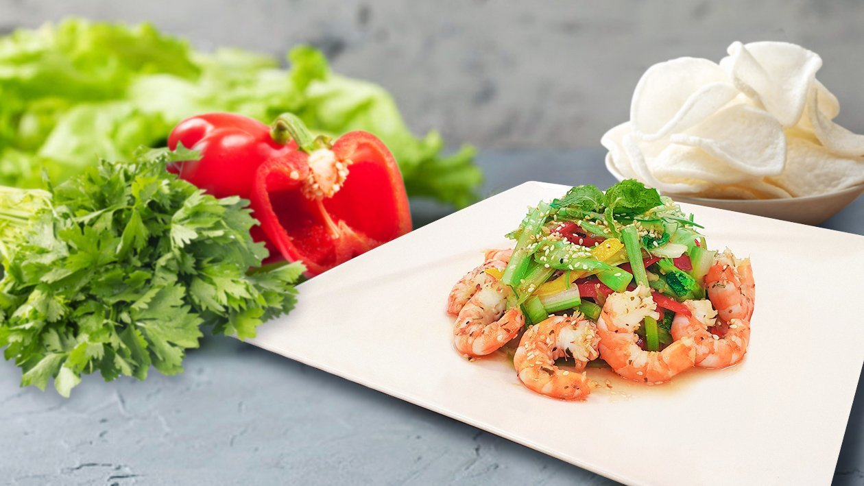 Celery Peppers Salad with Shrimp