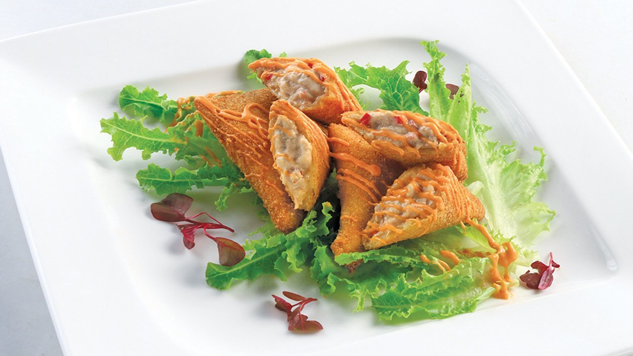 Chicken and Mushroom Spring Roll