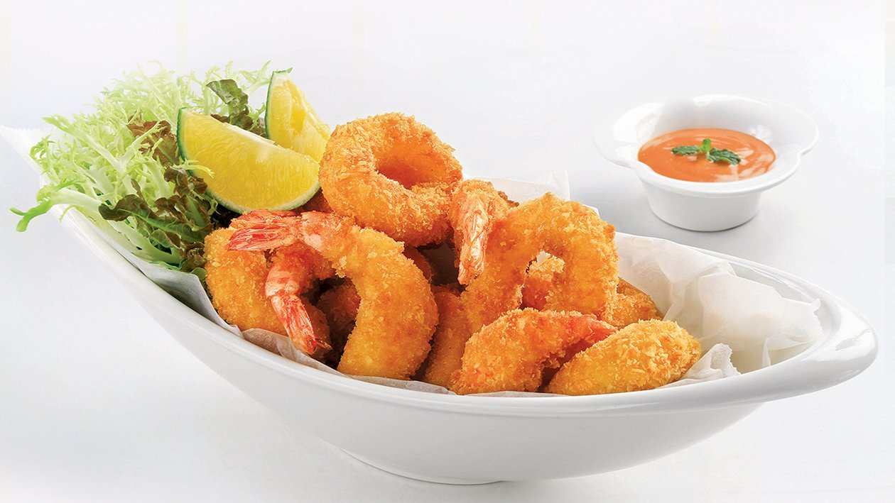 Fried Cripsy Prawn and Squid