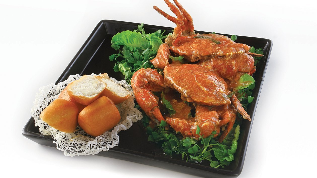 Fried Crispy Crab in Singapore style
