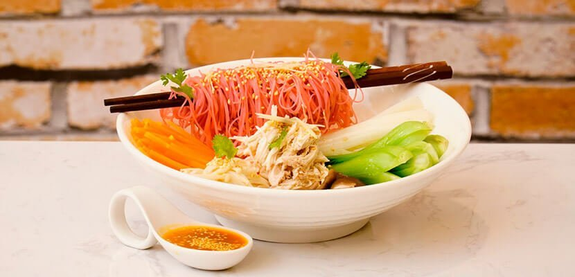 Rice Noodles with Shredded Chicken