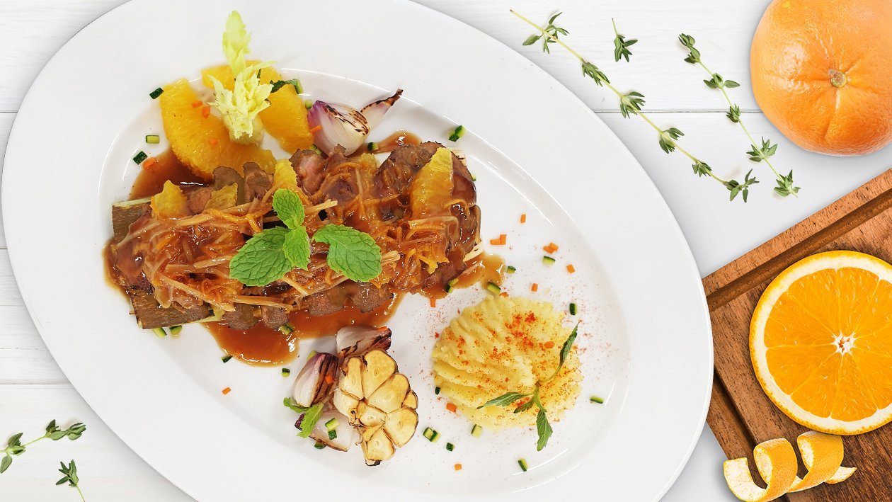 Roast Duck Breast with Orange and Ginger Sauce