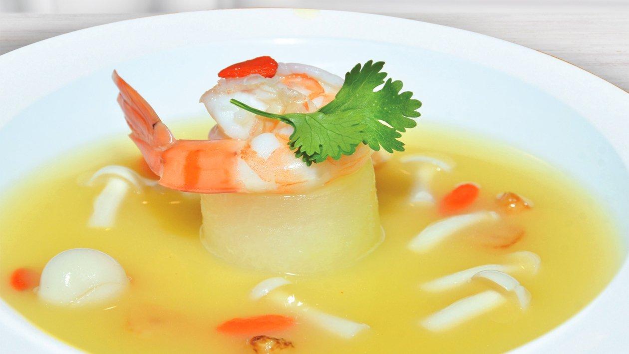 Shrimp Stuffed Zucchini with Mushroom Soup
