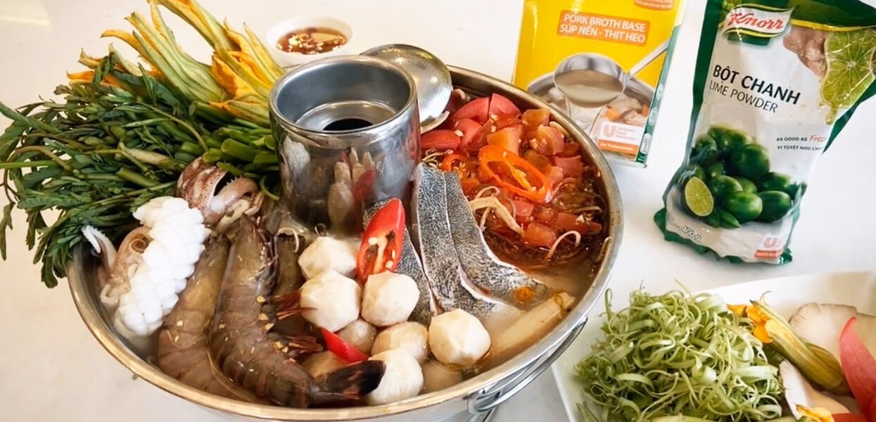 Spicy Sour Seafood Hotpot