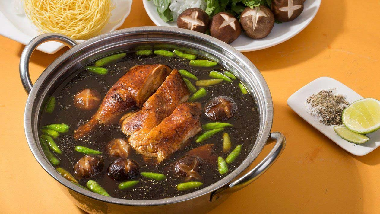 Steamed Chicken Hotpot with Green Chili