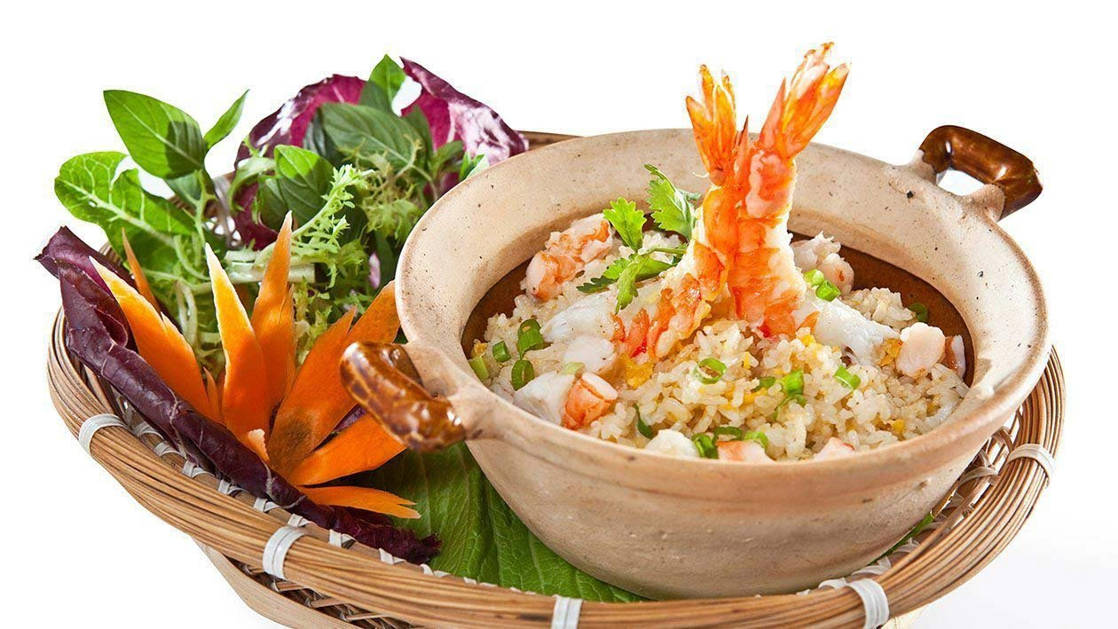 Stir-fried Rice with Seafood