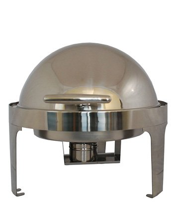 steel king 6.5 litre round roll top chafing dish | unilever food
