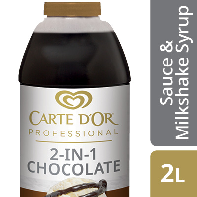 CARTE D'OR 2-In-1 Chocolate Sauce and Milkshake Syrup - Add delicious flavour to milkshakes and the finishing touch to your desserts with this versatile product.