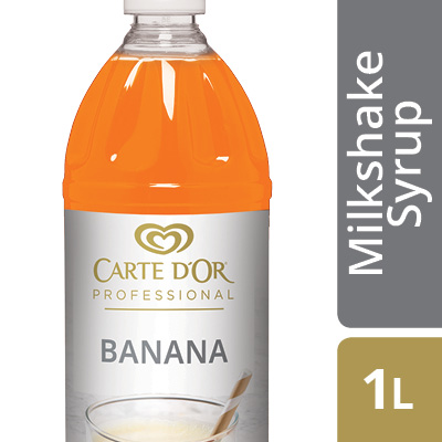 CARTE D'OR Banana Flavoured Milkshake Syrup - Here's an easy way to add delicious flavour, colour and variety to your milkshake menu.