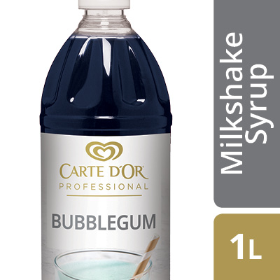 CARTE D'OR Bubblegum Flavoured Milkshake Syrup - Here's an easy way to add delicious flavour, colour and variety to your milkshake menu.