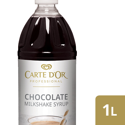 CARTE D'OR Chocolate Flavoured Milkshake Syrup - Here's an easy way to add delicious flavour, colour and variety to your milkshake menu.