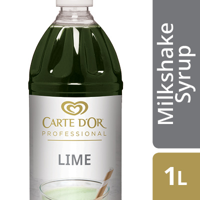 CARTE D'OR Lime Flavoured Milkshake Syrup  - Here's an easy way to add delicious flavour, colour and variety to your milkshake menu.