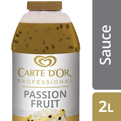 """CARTE D'OR Passion Fruit Sauce - Add the """"wow"""" factor to your desserts with our range of ready to use sauces."""