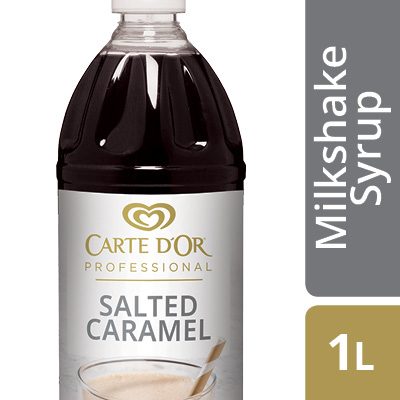 CARTE D'OR Salted Caramel Flavoured Milkshake Syrup - Here's a delicious flavour to keep your milkshake menu ahead of trends.