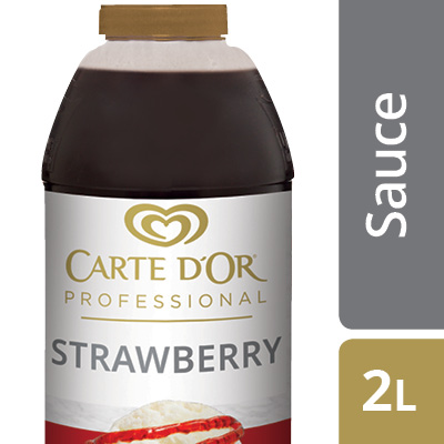 """CARTE D'OR Strawberry Flavour Sauce - Add the """"wow"""" factor to your desserts with our range of ready to use sauces."""