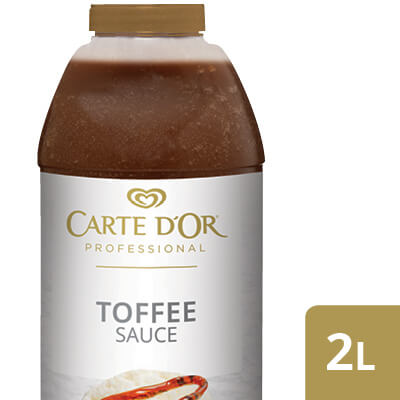 """CARTE D'OR Toffee Sauce - Add the """"wow"""" factor to your desserts with our range of ready to use sauces."""