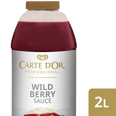 "CARTE D'OR Wild Berry Sauce - Add the ""wow"" factor to your desserts with our range of ready to use sauces."