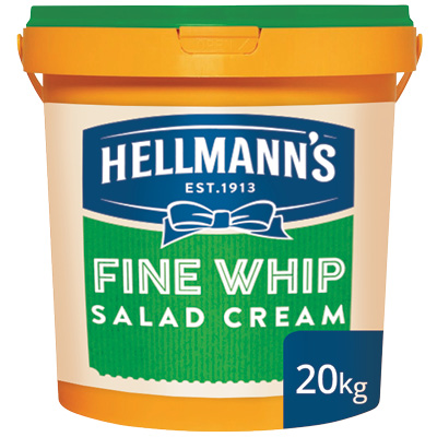 Hellmann's Fine Whip Salad Cream 20kg - Hellmann's Fine Whip gives your toasted sandwiches the boost they need.