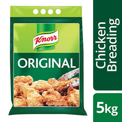 Knorr Original Chicken Breading 5KG - Our chicken breading clings with just water for tasty, crispy  fried chicken.