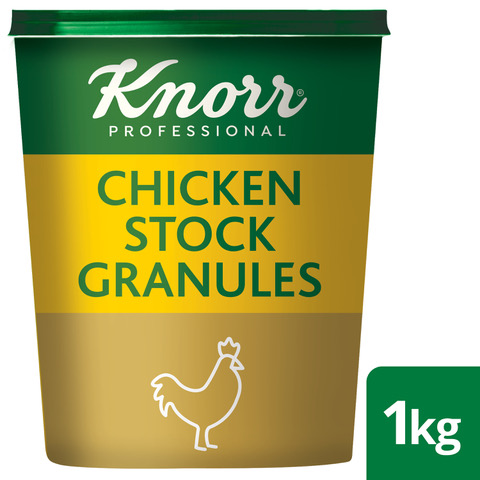 Knorr Professional Chicken Stock Granules - BEST Chicken Stock- KNORR Chicken Stock. Made with Real Chicken that adds Flavour to a dish, NOT salt. No added MSG. Conveniently Order Online.