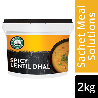 Robertsons Indian Spicy Lentil Dhal - Here's a pre-portioned sachet meal solution to help you make delicious world-cuisine-inspired dishes in 3 easy steps.
